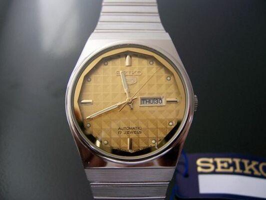 ORIGINAL SEIKO Uhren Vintage - Seiko 5 Automatic --NEUWARE-- 100% RETRO - JAPAN STOCK!