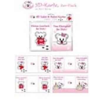 12-22110, 3D Grußkarten 2er Pack,