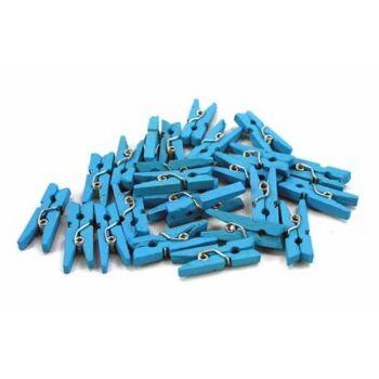 27-40988, blaue Holz Wäscheklammer, Jungen