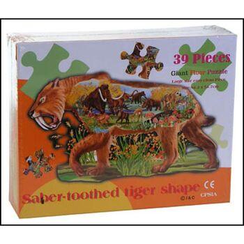 28-885490, Riesen Konturen-Puzzle Tiger, 94x55cm