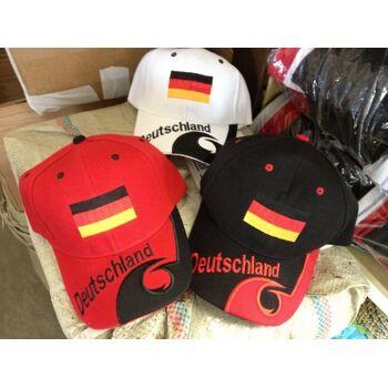 Deutschland  Cap Basecap Cap Mütze Italia Schirm -Mützen Deutschland in Schwarz