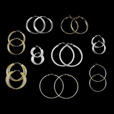 Modische Ohrringe Creolen Ohrhänger Vergoldet und Versilbert Tolles Design nur 0,69€