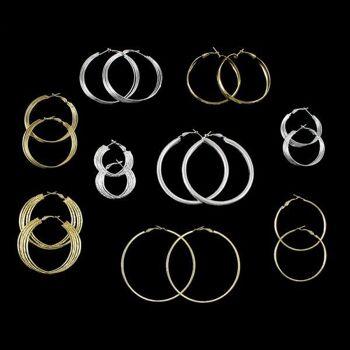 Modische Ohrringe Creolen Ohrhänger Vergoldet und Versilbert Tolles Design nur 0,48?