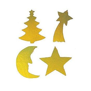Weihnachts-Holzhänger 5cm, gold,Deko