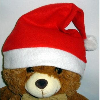 27-41870, Weihnachtsmütze mit Bommel, Nikolausmütze