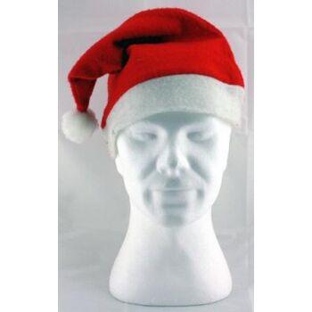 27-41998, Fleece Weihnachtsmütze mit Bommel, Nikolausmütze