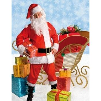 27-51909, Weihnachtsmannkostüm LUXE 8-teilig - TOP Qualität