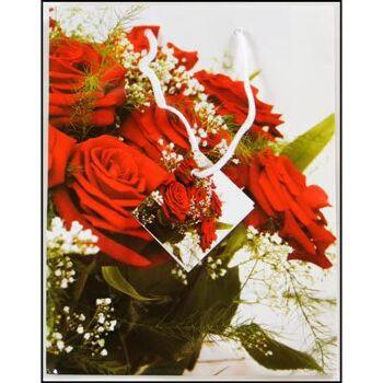 28-173316, Geschenktasche 18x23cm, Blumen, Stilleben