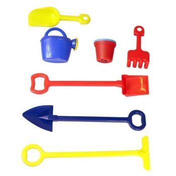 Restposten Palettenware Sonderposten Kinderrollwagen mit Gartenspielzeug