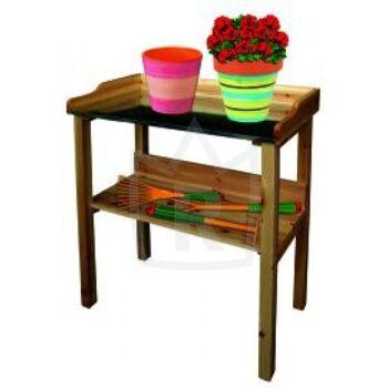 Restposten Pflanztisch Baumarkt Tisch Gartentisch Arbeitsfläche aus Metall Posten Baumarkt  Neuware