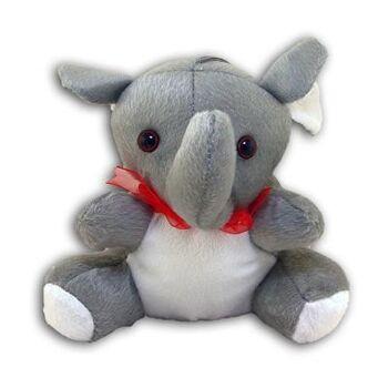 27-22146, Plüsch Elefant sitzend - 17 cm