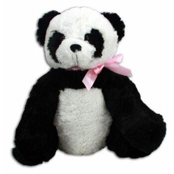 27-31156, Pandabär mit Schleife 37 cm, sitzend