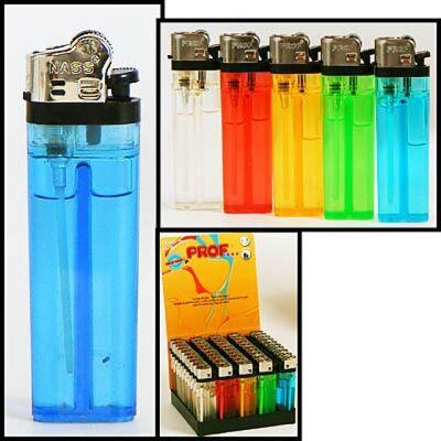 Feuerzeug Einweg, verschiedene Farben, transparent