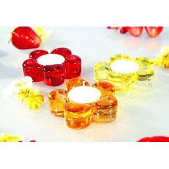 17-32334, Teelichtleuchter aus Glas, 7,5 cm, TRENDY Farben