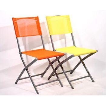 17-32384, Gartenstuhl, Metall/Polyester, klappbar, TRENDY Farben