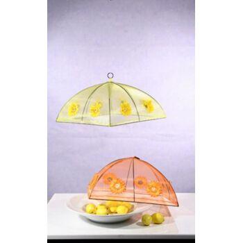 17-36341, Kuchenhaube, 36x36 cm, gelb, Fliegenschutz