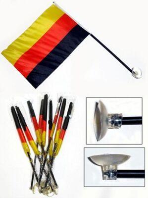 27-41902, Fahne BRD 21 x 14 cm, am Stab, mit Saugnapf, Flagge Deutschland