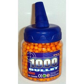 1000er Munition orange, 6mm, für Softair, Pistole, Gewehr, Panzer