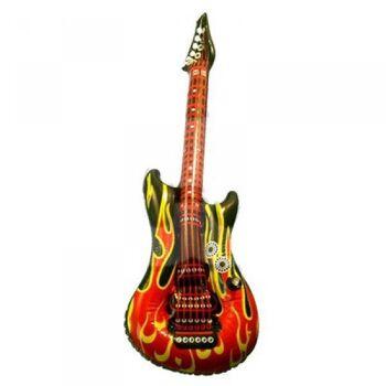 06-0714, Luft Gitarre, Flammendesign, 100 cm, aufblasbar, TOP TRENDY