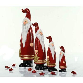 17-18447, Keramik Weihnachtsmann 19cm, mit Sterntasche, Nikolaus