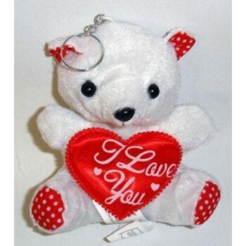 27-12683, Bär mit Herz, 10 cm, I LOVE YOU, mit Saugnapf