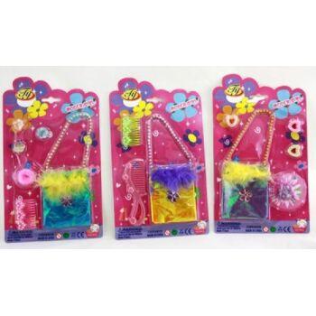 27-42520, Beauty Set, Mädchenkarte mit Tasche, Schmuck und Zubehör
