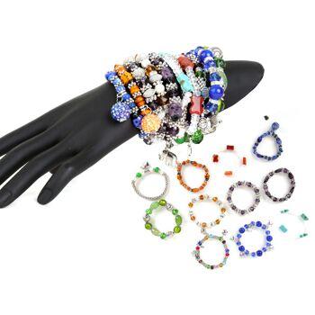 Armbänder Armketten Armschmuck Farbmix Accessoires Schmuck Modeschmuck Strass Steine nur 1,49 Euro