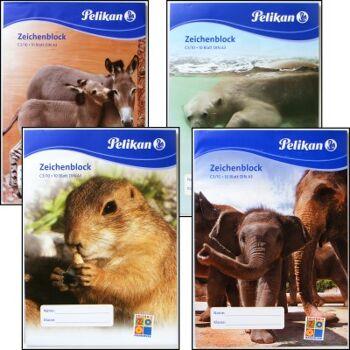 12-228789 PELIKAN Zeichenblock A3, Zootiere