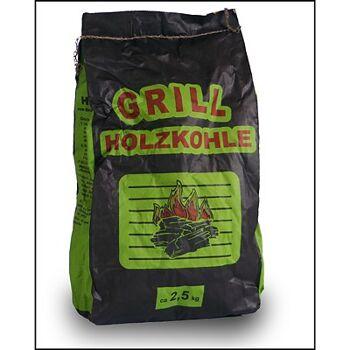 28-000039, Grill Holzkohle Briketts, 2,5kg, lange Brenndauer, Grillkohle,
