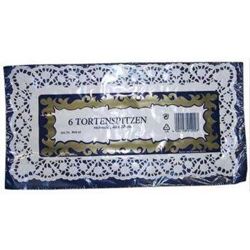 28-100001, Tortenspitze 6er Pack, eckig 40x20cm