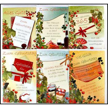 28-515208, Karten Geburtstag mit Spruch, Geschenkkarten, Glückwunschkarten