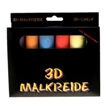 10-642600, 3D Kreide-Set inkl. Brille, Straßenmalkreide
