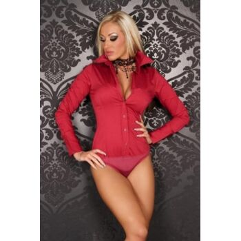 Bodybluse -Farbe: Coralle Rot - Größe: 36/S, 42/XL