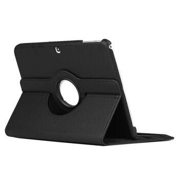 Edles 360 Grad Cover für Samsung Galaxy Tab 3 10,1 Zoll schwarz + Display-Schutzfolie + Touch-Pen