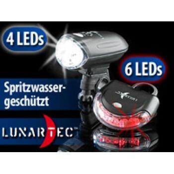 Lunartec LED Beleuchtung-Set fürs Fahrrad