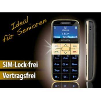 Simvalley Mobile Easy-5 Farbe gold Großtasten Handy