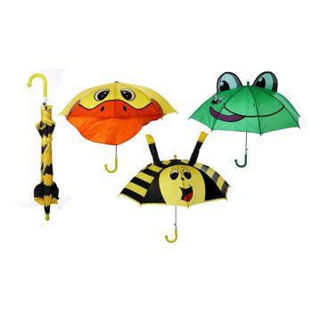 12-30241, Kinderschirm Tiermotive, Regenschirm, Stockschirm, Regenschutz, Automatik-Schirm