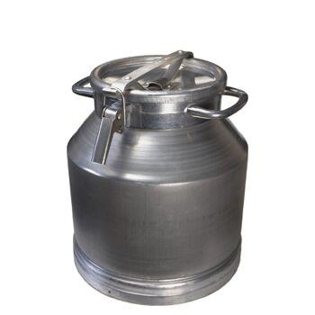 Aluflasche 25 Liter Milchkanne Alubehälter Alufass