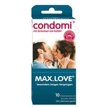 deutsche Marken- Kondome Condomi Max. Love 10er