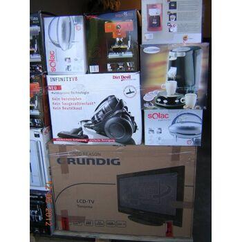 Top Retour Discounter Restposten TV LED LCD Haushaltsgeräte u.s.w. Paletten garantiert ungeprüft