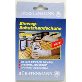 12-3801, Einweg Schutzhandschuhe Vinyl 8er Pack, Marke Bürstenmann, hygienisch, antiallergisch, Handwerkzeug, Haus, Garten, Hobby, Freizeit