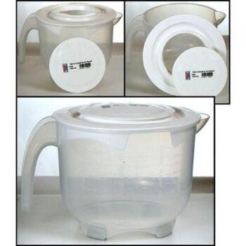 28-154541, Rührschüssel 2 Liter, mit Messskala und Deckel, Ausgießer und Henkel, Deckel