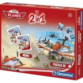 Edukit 2 in 1 (Memo & Puzzle) Planes
