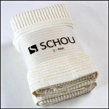 28-311916, Handtuch beige 2er Pack, Baumwolle, 450g/m²