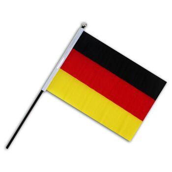 27-11337, Deutschlandfahne am Stab, Party, Event, Flagge, BRD Farben