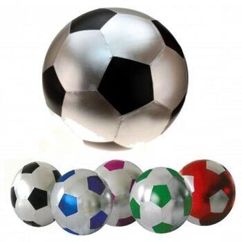 Fußball 35 cm, Metallicfarben, Aufblasball, Spielball, Wasserball, Beachball, Strandball, Fussball