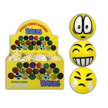 27-42210, Softball mit Grimassen Gesichter, Knatuschball, Antistressball, Wasserball, Beachball, Strandball