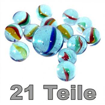 10-556200, Glas Murmeln, Murmel Set - 21 Teile