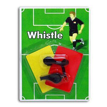 27-42685, Fußballset - Pfeife und Karten (gelb und rot), Schiedsrichterset