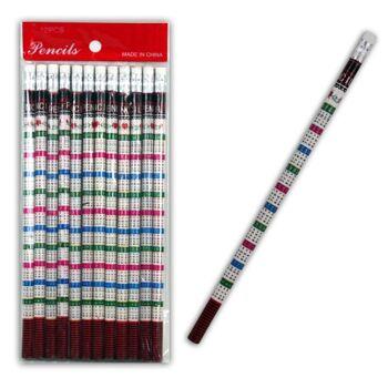 06-1823, Einmal-Eins Bleistift, 18cm, mit Radiergummi, Rechenbleistift, Schreibstift